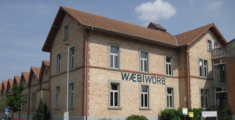 Aussenansicht Gebäude Wäbi Worb